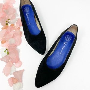 Jeffrey Campbell Leather Pointed Toe Flats Black 8